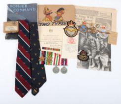 WW2 Royal Air Force Medal and Ephemera Group of Flight Lieutenant H H Howson RAFVR