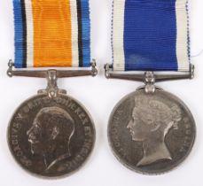 Naval Long Service Medal Pair of HMS Bramble