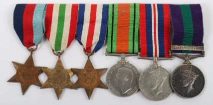 British Officers WW2 & Jewish Revolt Medal Group of Six Royal Army Service Corps