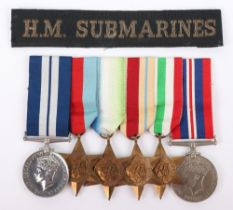 WW2 Submariners Distinguished Service Medal (D.S.M) Group of Six Awarded to Stoker A S Webb, Who Ser