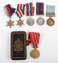 * A Group of Six Medals to a Canadian who Served in Northwest Europe During the Second World War and