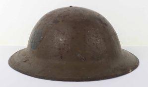 WW1 British Battalion / Divisionally Marked Steel Combat Helmet Shell