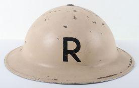 WW2 British Home Front Rescue Party Steel Helmet
