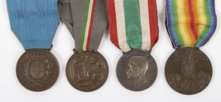 WW1 Italian Al Valore Casualty Medal Group