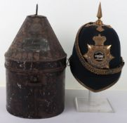 Victorian Leicestershire Regiment Officers Home Service Helmet