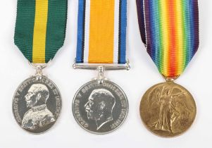 Great War Territorial Force Efficiency Medal Group of Three 1st Wessex Field Ambulance Royal Army Me