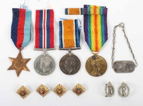 Grouping of Medals and Associated Items of 10th (Scottish) Battalion Kings Liverpool Regiment Intere