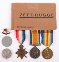 Great War 1914-15 Star Trio and Silver War Badge Medal Group to a Chief Petty Officer in the Royal N