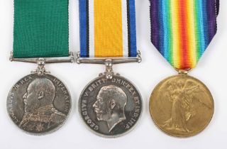 An Unusual Medal Group of Three Covering Service in the Royal Navy Reserve and Devonshire Regiment
