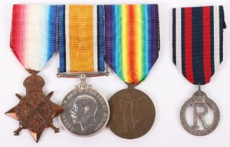 Scarce Great War Trio of Medals to the Civil Hospital Reserve