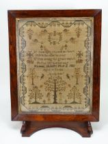 Early Victorian sampler by Hannah Alsbury May, aged 10 years, English 1831,