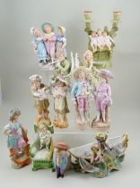 Collection of German bisque figurines, circa 1910s/20s,