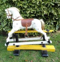 A painted and carved wooden Rocking Horse, English early 20th century,