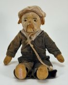 A Chad Valley bulldog in sailor costume, 1930s,