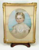 Portrait of a young girl, by S. Smeeton, early nineteenth century,