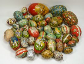 Large collection of lithographed printed Easter eggs, various dates,