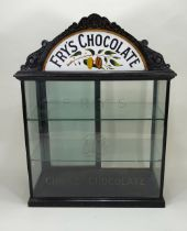 A Victorian Fry's Chocolate counter top display cabinet,