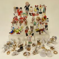 Collection of cake decorations,