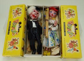 Two boxed Pelham Puppets, circa 1970,