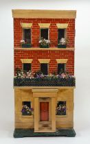 A wooden Silber and Flemming box back dolls house, German late 19th century,
