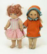 Chad Valley 'Bambina' cloth doll, 1930s,