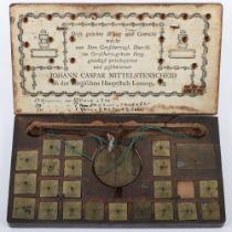 Johann Caspar Mittelstenscheid Set Of Coin Scales And Weights