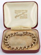 A 9ct gold link bracelet,