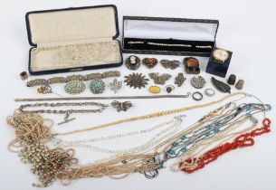 A selection of brooches