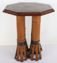 An interesting and unusual octagonal occasional table made up from various wrecks