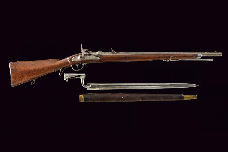 A Jagerstutzen mod. 1854/67 with bayonet - Image 12 of 12