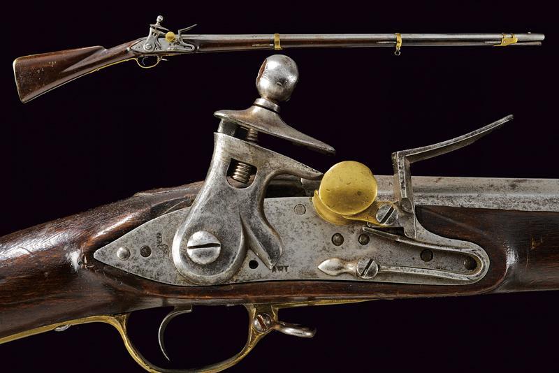 An infantry flintlock gun