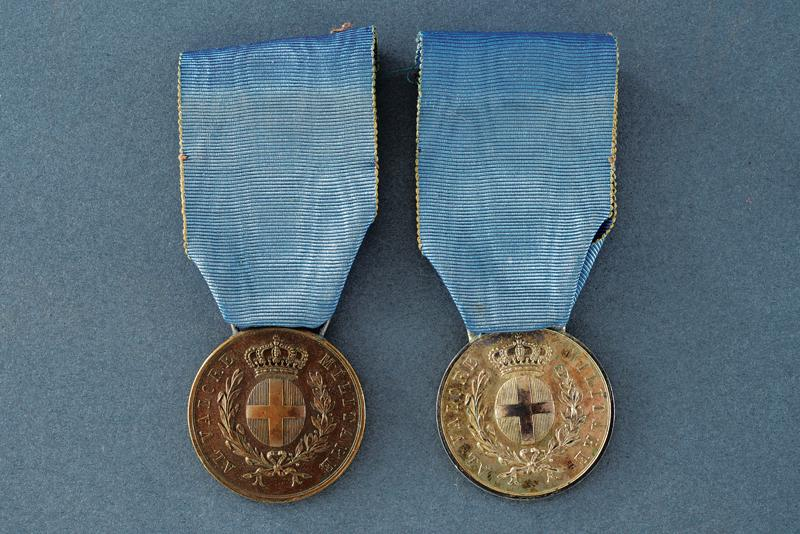 A set of two medals for military valour