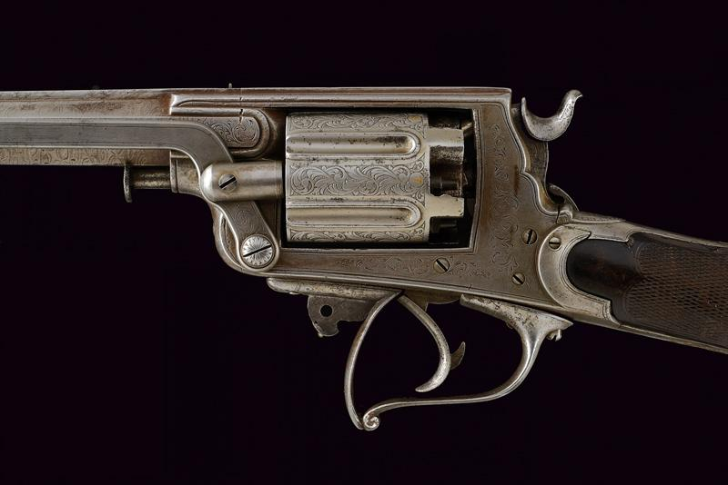 A percussion revolving rifle by Mazza - Image 5 of 11