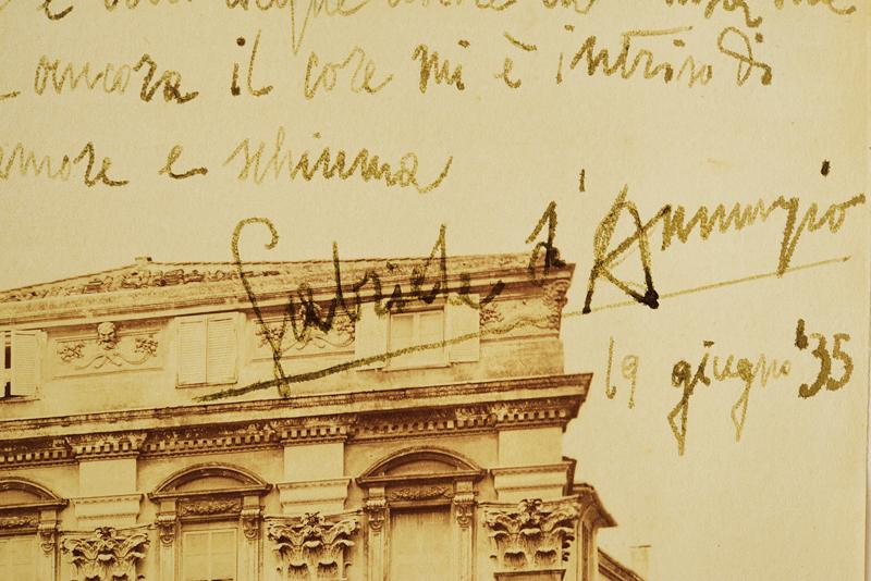 D'Annunzio, Gabriele - picture by Alinari with an autograph dedication - Image 2 of 3