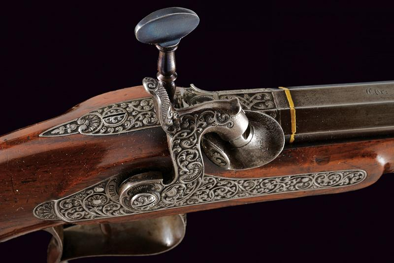 A fine percussion target pistol by Christian Bauer - Image 3 of 10