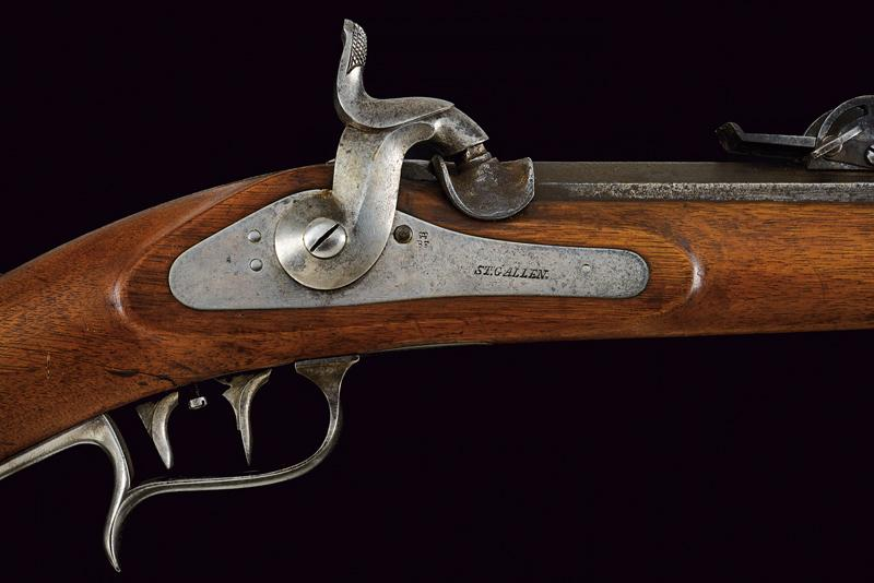 An 1851 model percussion carbine with bayonet - Image 6 of 9