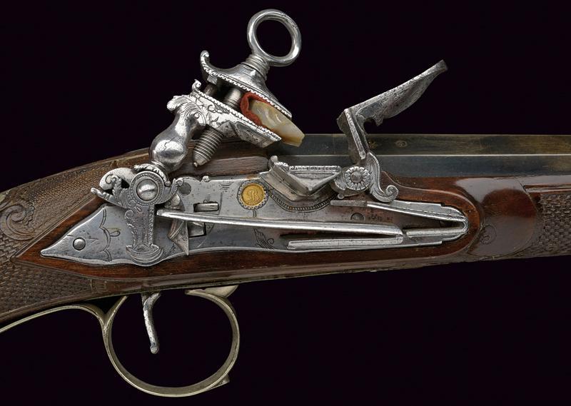 A beautiful miquelet flintlock gun - Image 7 of 10