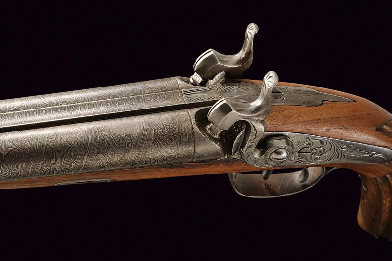 A double barrelled percussion pistol - Image 2 of 4