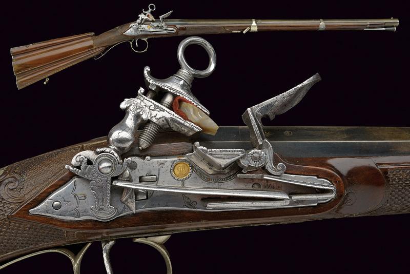 A beautiful miquelet flintlock gun