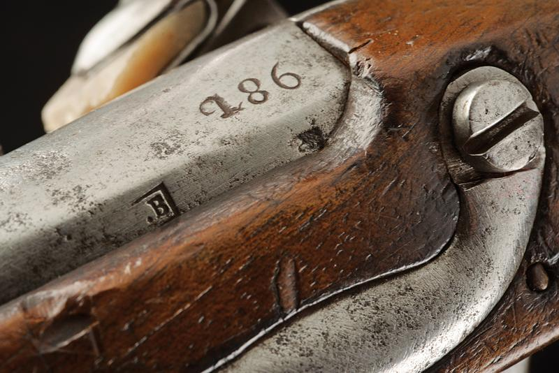 A pair of gendarmerie flintlock pistols by Facchetti - Image 5 of 6