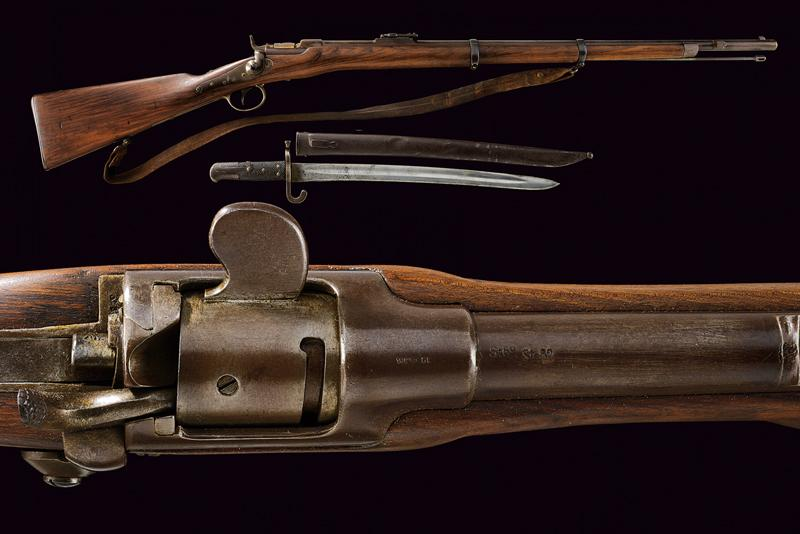 An 1867 model Werndl rifle for infantry and Jager units with bayonet
