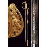 A navy officer's sword