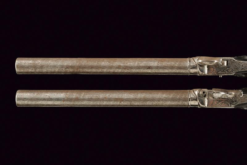 A pair of long barrelled percussion pistols - Image 2 of 3