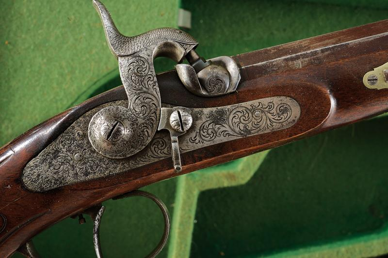 A pair of cased percussion pistols by Kuchenreuter - Image 3 of 6
