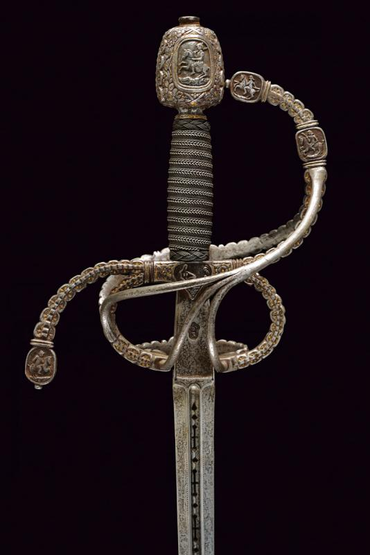 A magnificent swept hilt rapier in the style of Othmar Wetter - Image 9 of 11