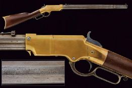 An extremely rare U.S. Martial Serial Number Range Henry rifle