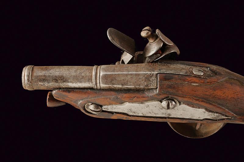 A flintlock travel pistol - Image 2 of 2