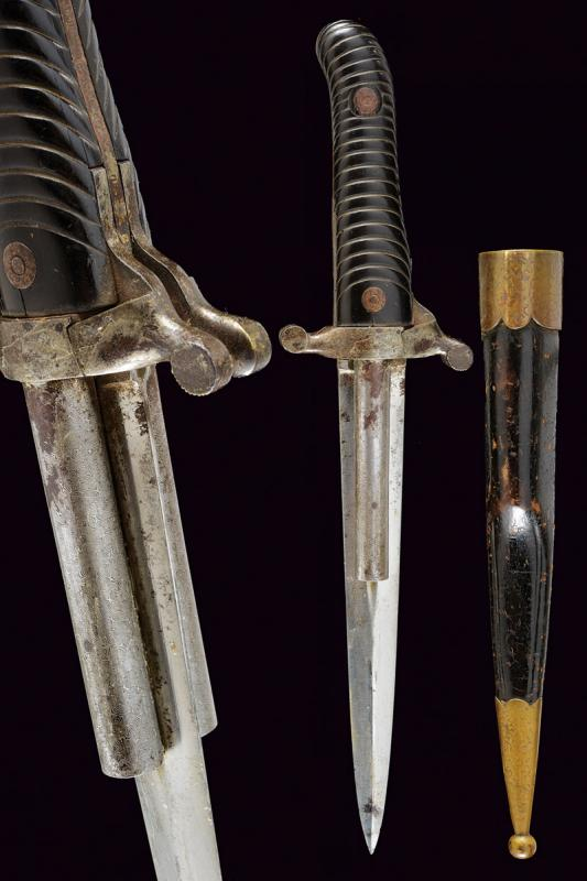 A Dumonthier type double barrelled percussion knife-pistol by A. Francotte