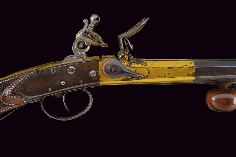 A very rare double-barrelled flintlock sporting gun by Gauvain - Image 4 of 14