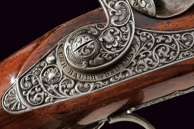 A fine percussion target pistol by Christian Bauer - Image 8 of 10